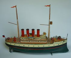 Various Scale Model Ships, Vintage Boats, Tin Toys, Classic Toys, Antique Toys, Water Crafts, Cool Toys, Wooden Toys, Nostalgia