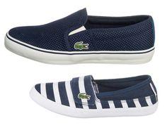 Lacoste Slipper für Mama (Art.Nr.4275965) und Mini (Art.Nr. 3918454). Die perfekten Schuhe für den Frühling.
