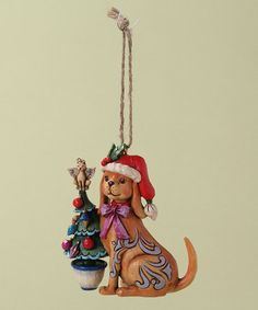 Another great find on #zulily! Christmas Dog Ornament by Jim Shore #zulilyfinds