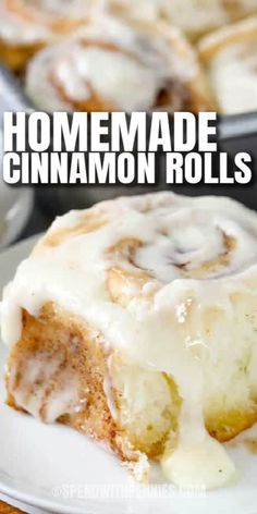 Cinnamon Rolls made from scratch are so flavorful & flaky. Smothered with cream cheese frosting, everyone loves these delicious cinnamon buns. #spendwithpennies #cinnamonrolls #cinnamonbun #dessert #homemade #fromscratch Breakfast Dishes, Breakfast Recipes, Breakfast Time, Breakfast Ideas, Cinnamon Bread, Cinnamon Rolls, Brunch Recipes, Dessert Recipes, Strawberry Bread