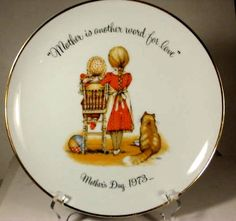 Mother's Day 1973 Holly Hobbie plate