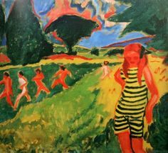 ERNST Ludwig Kirchner Martsella-artistka. 1910 http://medverf.blogspot.nl/
