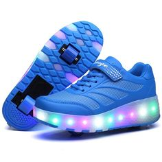 Skechers Children's S Lights Ice D'Lites Snow Spark Light Up Trainers, BlackPinkPurple
