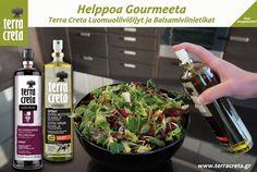 Terra Cretan oliiviöljyt ja balsamicot soveltuvat monipuoliseen ruoanlaittoon. Nam!
