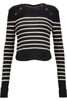 ISABEL MARANT Hatfield Striped Merino Wool-Blend Sweater. #isabelmarant #cloth #sweater