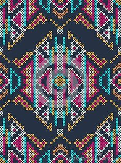 Cross-stitch Ethnic Ornament Royalty Free Stock Images - Image ...