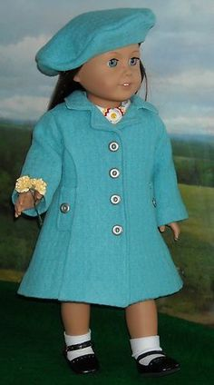 1930s 1940s Easter Coat Hat by KMK Fits American Girls Like Emily and Molly | eBay