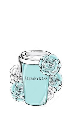 Tiffany and Co coffee art Pintura Colonial, Desenio Posters, Photo Deco, Illustration Mode, Fashion Wall Art, Tiffany And Co, Azul Tiffany, Cute Wallpapers, Tiffany Blue Wallpapers