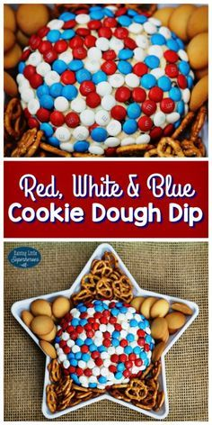 Use your M&M's® Red, White & Blue Milk Chocolate to make this Cookie Dough Dip.