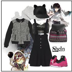 Anime Lover by ul-inn on Polyvore featuring Toga, Club Monaco, Under Armour, Boohoo and Karl Lagerfeld