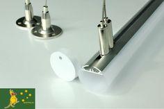 Ultraslim Aluminium Profile Pendant Tube Bar Ceiling Lamp for LED Strip Light