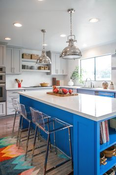 For the Bold and Cheery!  What a fun way to enjoy your kitchen.