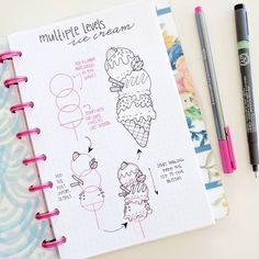 Here is how I draw an ice cream cone with multiple scoops. I'll be using the #nicoledoodles to have all of my doodles and tutorials…