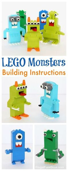 LEGO®️️ Monsters Building Challenge for Kids - Building instructions in the post.