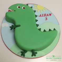 george dinosaur cake - Google Search