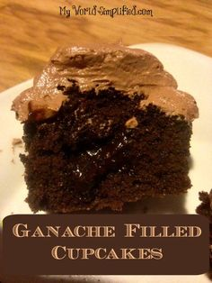 Ganache Filled Cupcakes with Ganache Frosting