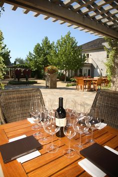 The Courtyard at Cliff Lede Vineyards, Yountville, CA