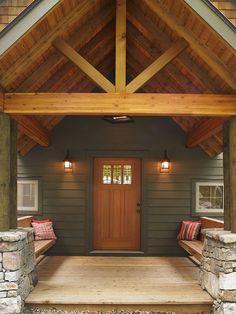Entry to a Lindal Cedar Home