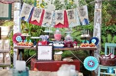 Vintage-Americana Themed Party