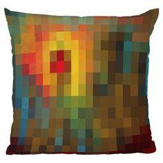 Madart Inc Glorious Colors Throw Pillow