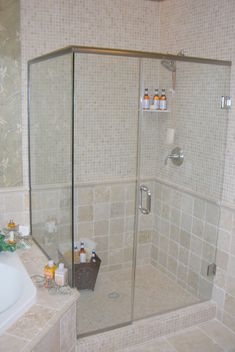 images of heavy shower doors | Harkraft installs custom shower doors and shower enclosures in the ...