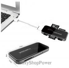 SIYOTEAM SY-631 LETTORE USB MEMORY CARD READER 2.0 SLIM BLACK NERO - SU WWW.MAXYSHOPPOWER.COM