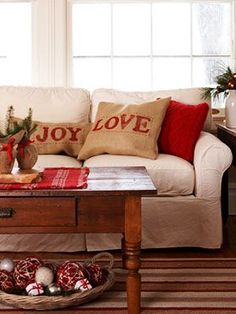 Christmas Crafts at WomansDay.com - DIY Christmas Pillow Cover Ideas - Woman's Day