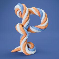 Letra P - alfabeto. FOREAL #alphabet #3D #artdirection