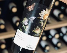 Wine label for ProSun Wine Label, Christmas Presents, New Work, Behance, Packaging, Bottle, Gallery, Check, Illustration
