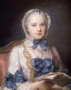 Marie Josèphe of Saxony, Dauphine of France.Maurice Quentin de La Tour (French, 1704-1788). Pastel oncanvas. Gemäldegalerie Alte Meister, ...