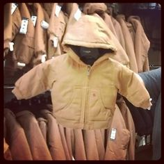 look at the cute lil carhartt cooatt ! my future child will have one!