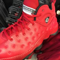 First images of the Jordan Jumpman Team 2 Bulls Red colorway, as well as information on a possible US release.