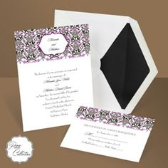 Here's another pretty invitation option. It's from Anne's invitations.