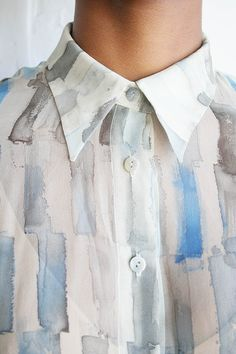 MARFAKIND--though this is a blouse the fabric design concept would make great menswear