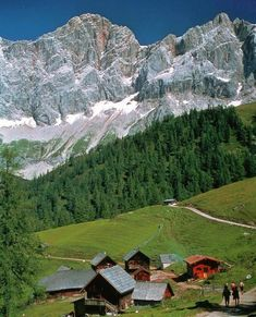 Ramsau am Dachstein, Austria ~ can you just imagine living here surrounded daily by this magnificence? Visit Austria, Austria Travel, Dachstein Austria, Places To Travel, Places To See, Green Landscape, Beautiful Places To Visit, Beautiful Landscapes, The Good Place