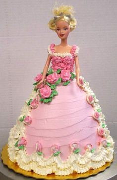 Pin Design » Pink Barbie Cake Picture To Pinterest