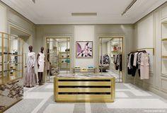Emilio Pucci reports sales growth, reaching a turnover of 100 million euros in 2012 Shop Interior Design, Retail Design, Store Design, Interior Design Living Room, Visual Merchandising, Joseph Dirand, Counter Design, Store Interiors, Retail Interior