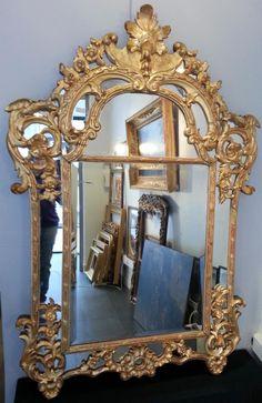 Miroir Dore A Parecloses Du XVIIIème Siecle, Alberelli Jean Antiquités, Proantic