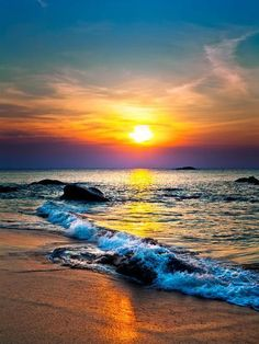 Beach Pictures, Nature Pictures, Beautiful Sunset, Beautiful Beaches, Sunset Photography, Landscape Photography, Photography Tips, Sea Murals, Sunset Wallpaper