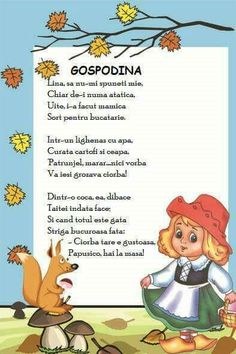 Poezie Experiment, Preschool At Home, Kids Education, Nursery Rhymes, Embroidery Patterns, Crafts For Kids, Language, Parenting, Clip Art