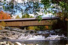 Swiftwater Bridge Bath, New Hampshire   COVERED BRIDGES NEAR WOODSVILLE, NH