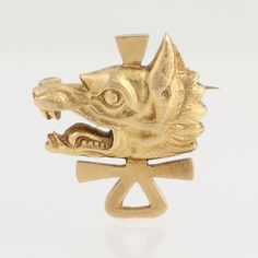 Tiffany & Co. Wolf's Head Pin Yale Secret Society