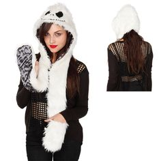 The Nightmare Before Christmas Jack Faux Fur Snood | GeekAlerts