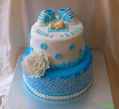 Christening cake for boy - krstinová torta pre chlapčeka