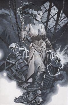Cool Art: The Bride of Frankenstein by Chris Stevens