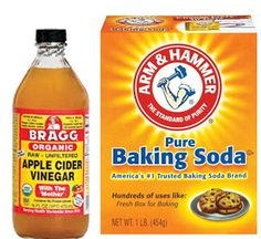 Apple Cider Vinegar Place 1 or 2 tablespoons of baking soda place in your palm. (plastic spoon) I've transferred my ACV to an empty dropper bottle for ease in adding and mixing with the baking soda. (It will bubble at first) Mix with your finger Apply to face and neck Let sit for as long as it is comfortable. No longer than 3 minutes or so. Rinse. Apply aloe vera. And GLOW!