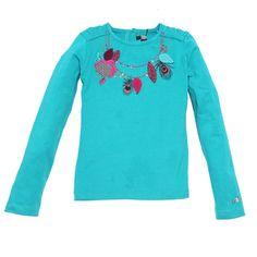Catimini teal blue long sleeve top at Fashion Deli