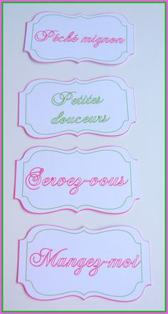 1000 images about tiquettes on pinterest mariage for Deco table gourmandise