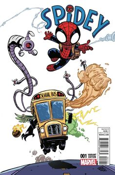 Spider-Man: Spidey Cover C Variant Skottie Young Baby Cover Baby Marvel, Chibi Marvel, Ms Marvel, Marvel Dc Comics, Marvel Heroes, Marvel Characters, Skottie Young, Comic Book Artists, Comic Artist
