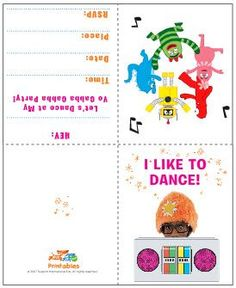 Yo Gabba Gabba Birthday Party Invitations | Gabba Friends